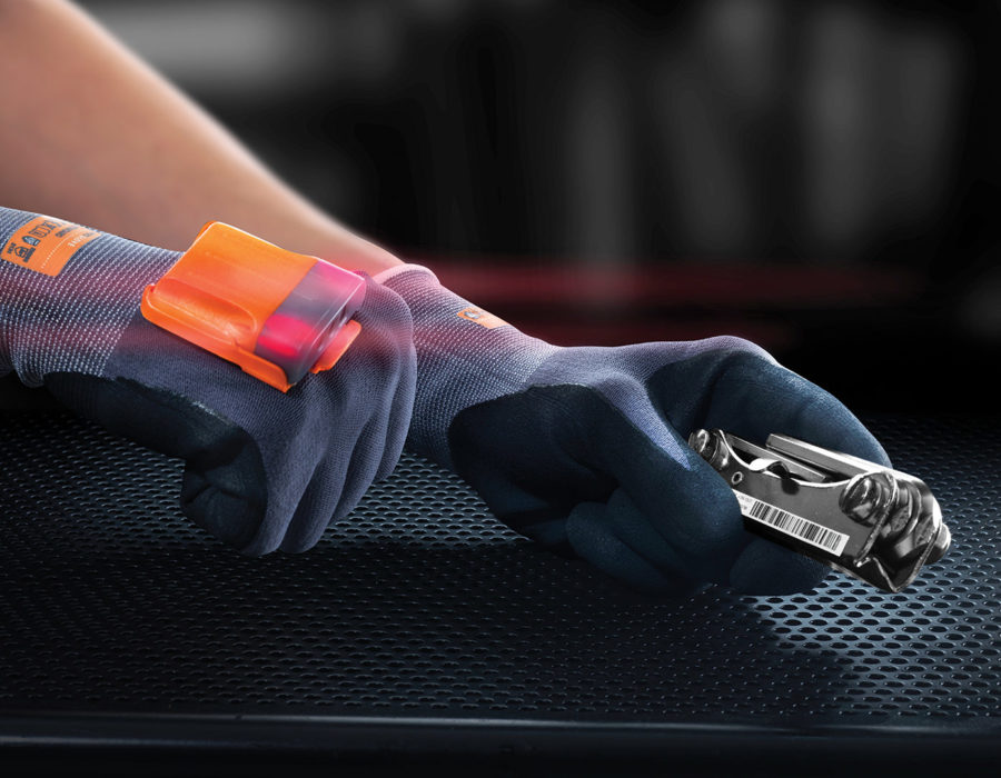 picture of hand working with glove