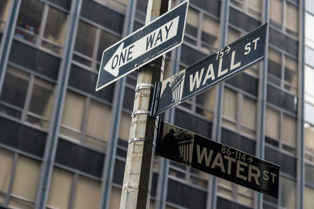 picture of wall street signs